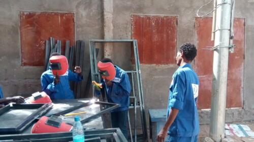 Création des fenêtres et des portes pour le centre de formation de la Prévoyance