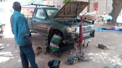 Réparation du véhicule de chantier